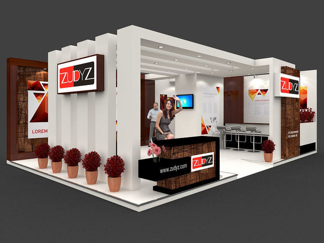 Large Exhibition Stall : Exhibition stall d model mtr sides open