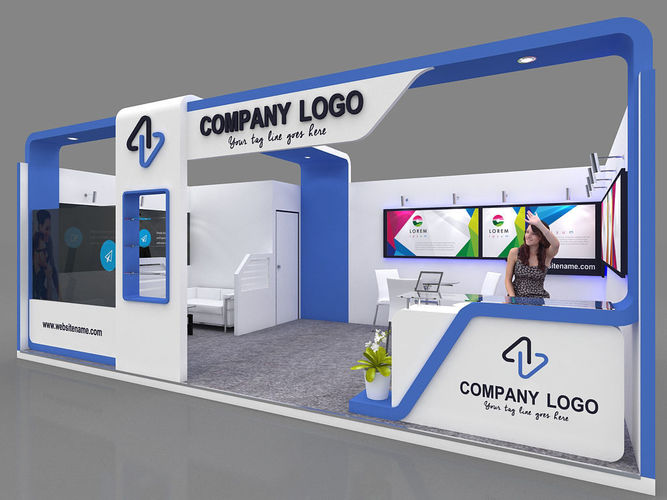 D Model Of Exhibition Stall : Exhibition stall d model mtr side open