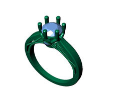 Solitaire Ring 41 3D print model