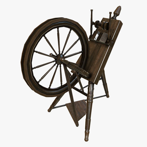 Low Poly PBR Spinning Wheel
