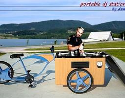 3D model portable music sistem - dj bike