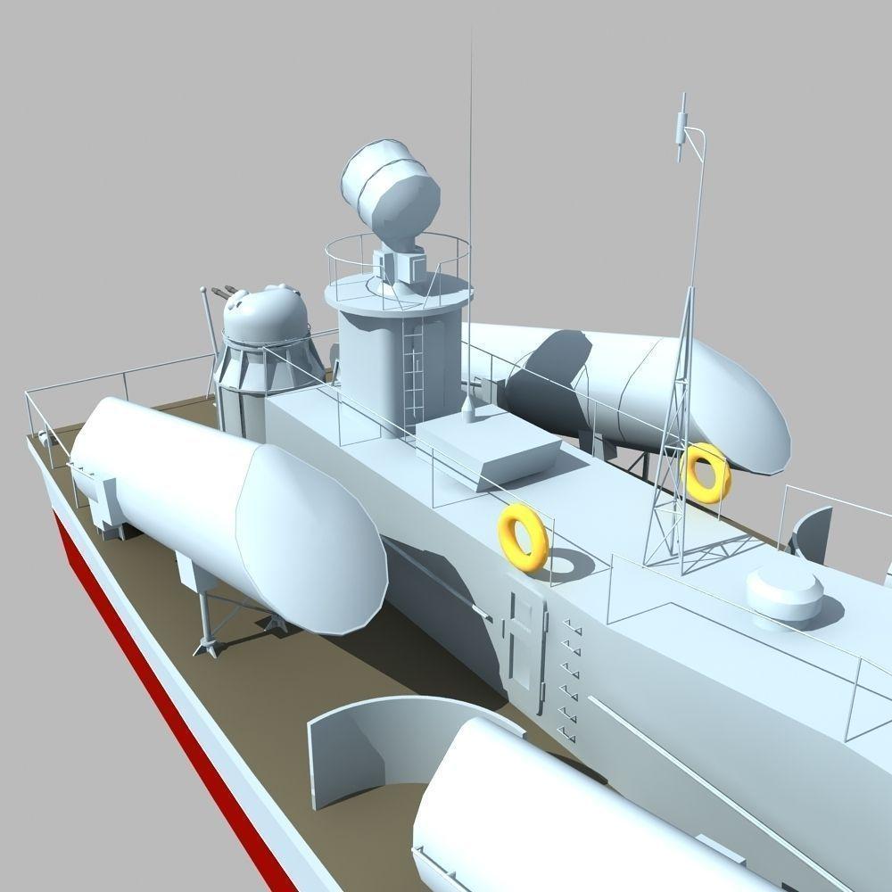 Russian Osa Class Missile Boat 3d Model Max Obj Fbx 10