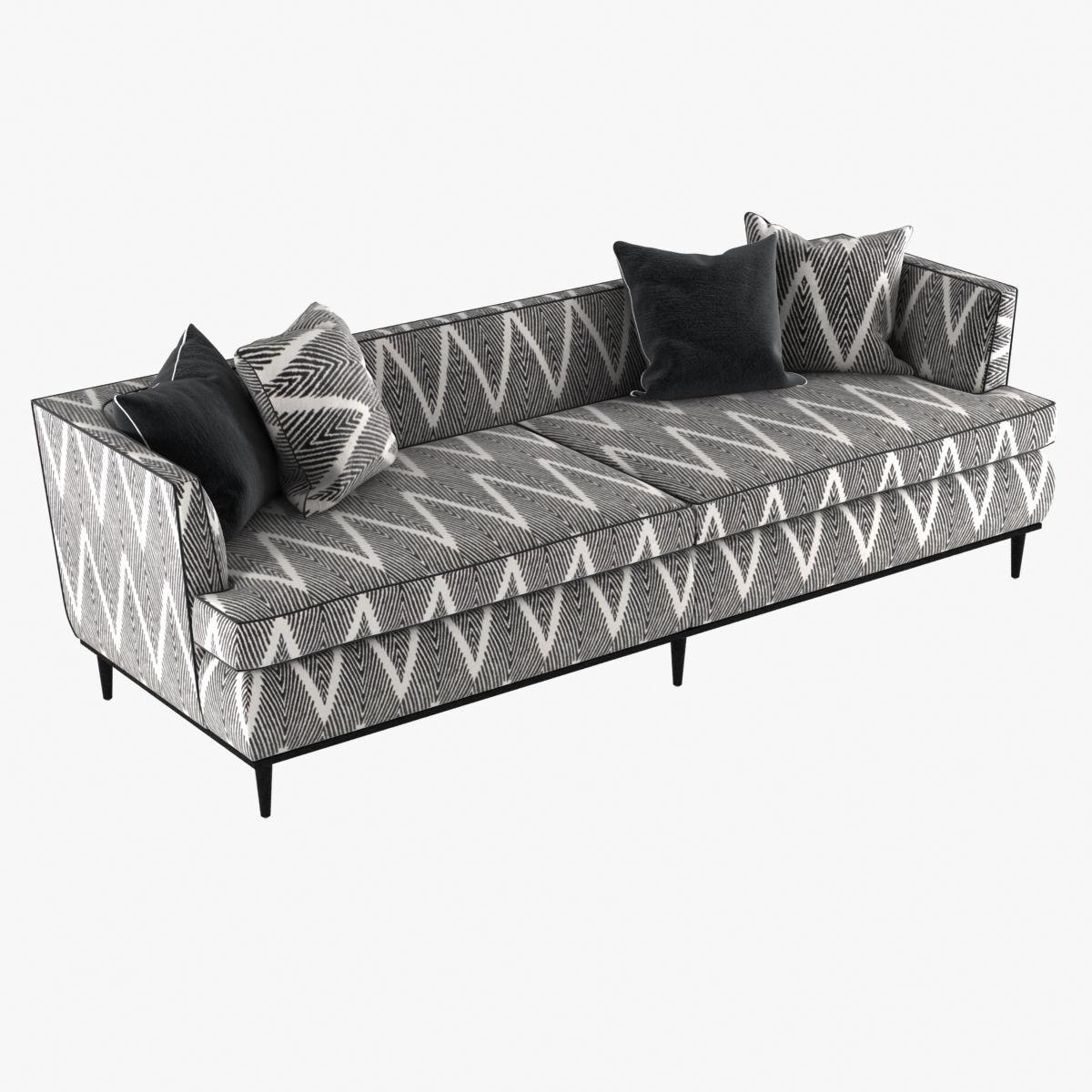 Monroe sofa by kate spade   3D model