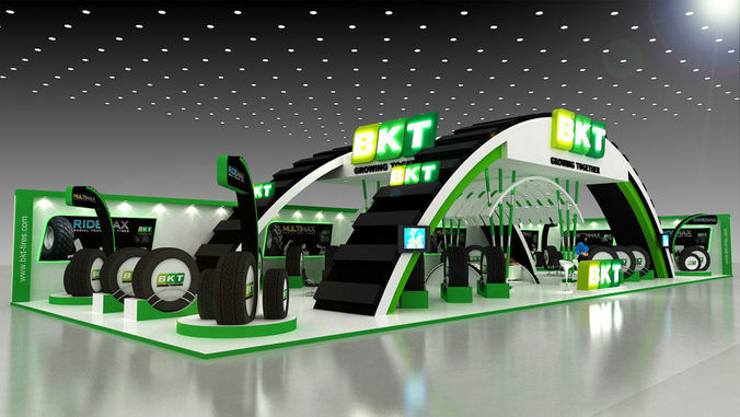 28x10mtr exhibition stand 3d model max 1