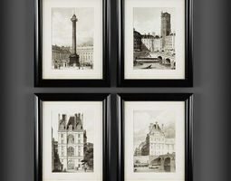 architectural Picture Frames 3D model realtime