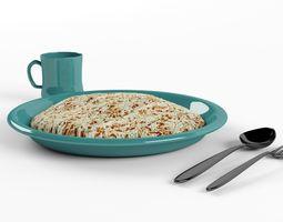3D asset Rice Dinner