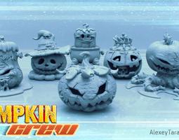 HALLOWEEN PUMPKINS PACK 3D printable model