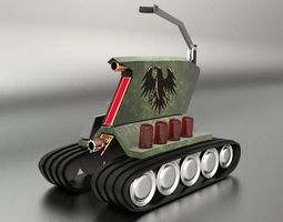 military robotic tank drone 3D model