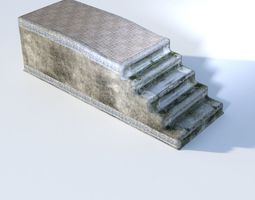 Old decorated staircase 3D model