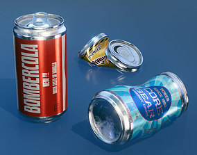 Cans game-ready 3D asset