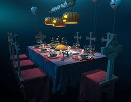 Halloween party set 3D model