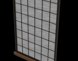 Architectural large arched window with sill 3D model