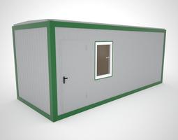 Modular cabin for construction office 3D model
