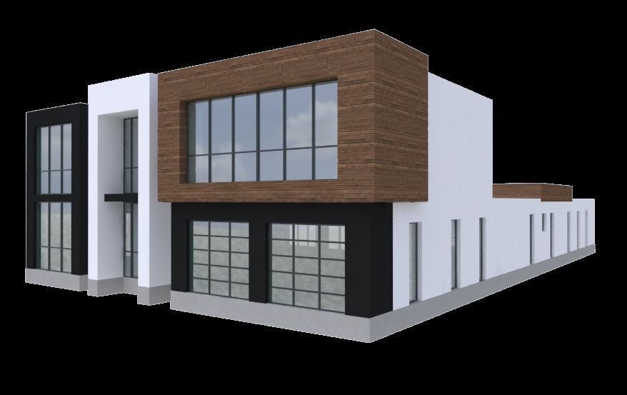 2 story large modern house with cad floor 3D