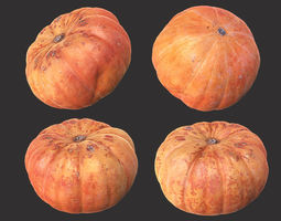 garden 3D model game-ready Pumpkin