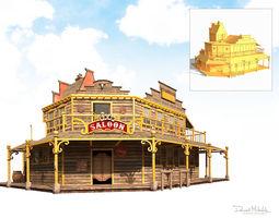 3D asset realtime Western Saloon
