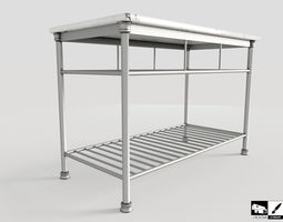 Modern Kitchen Island 3D asset