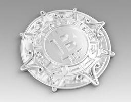 metall 3D model Bitcoin