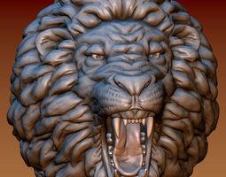 3D print model bas Lion head