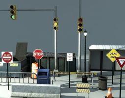 3D asset realtime Road Props