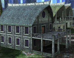 3D model Elven Houses 3