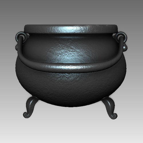 witch cauldron cartoon 3d model max obj mtl ma mb mud 2