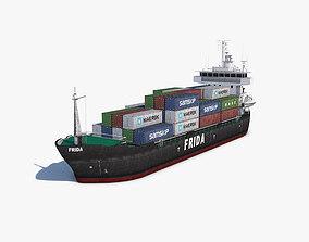 Cargo Ship carrier 3D asset