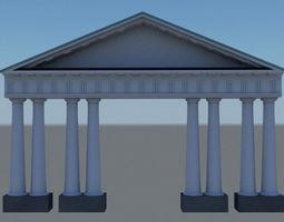 3D Classical architecture detail