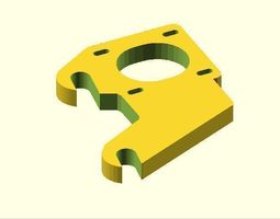 removable y axis motor mount  3d print model