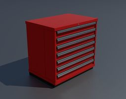 Workshop storage box small PBR 3D