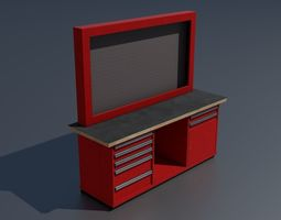 3D model Workshop workbench 3 PBR