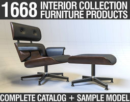 low-poly Furniture Collection - Catalog and Sample Model
