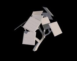 Solar Tree 3D asset