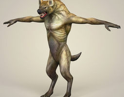 Game Ready Fantasy WereWolf 3D asset realtime