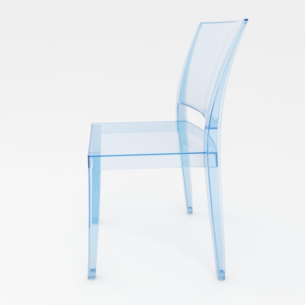 Methacrylate chair Kartell - La marie 3D model | CGTrader