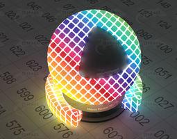 character Bulb mosaic colorful light 3D model