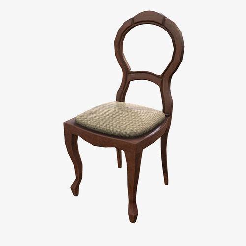 low poly pbr chair 3d model fbx ma mb 1