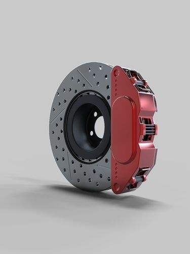 disk brake 3d model obj mtl fbx ma mb 1