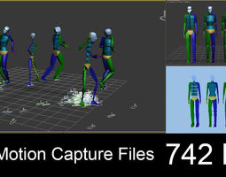 3D model 742 Motion Capture Files