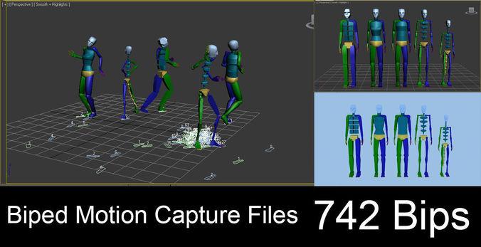 742 Motion Capture Files | 3D model