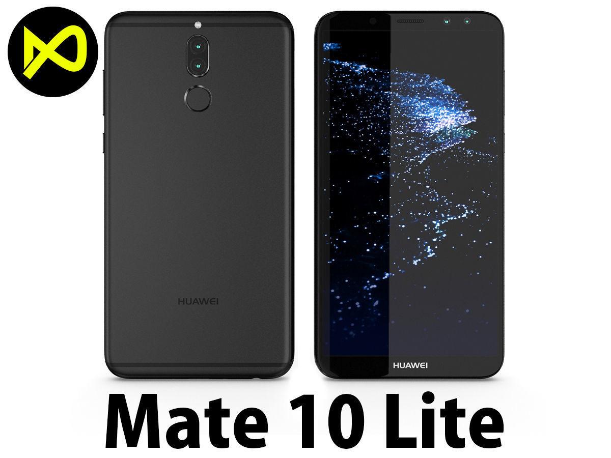 best service f8391 8a875 Huawei Mate 10 Lite Black | 3D model