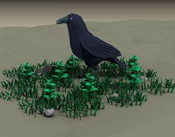 low poly bird 3D model