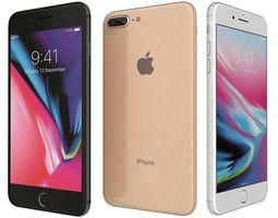 Apple iPhone 8 Plus All Colors 3D