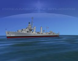 3D model Gleaves Class Destroyer USS Stevenson