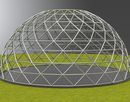 Geodesic dome large dome frame structure 3D