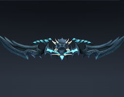 3D asset Double bladed sword or Bow