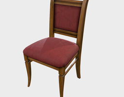 Low Poly PBR Dining Chair 3D model