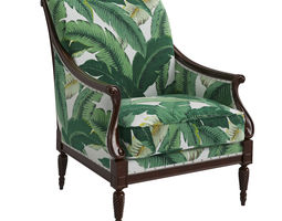 Harwood Accent Chair - Palm Leaf 3D model