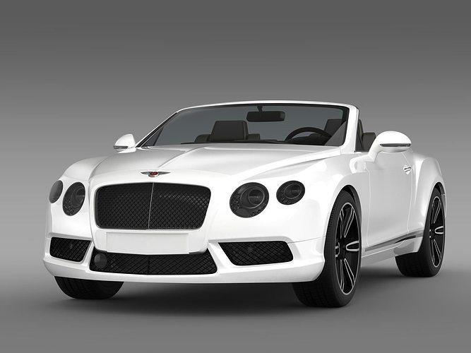 3D model Bentley Continental GTC V8 2013 | CGTrader