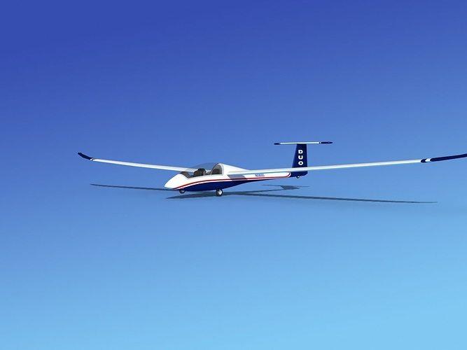 duo discus sailplane 3d model max obj 3ds lwo lw lws dxf stl 1